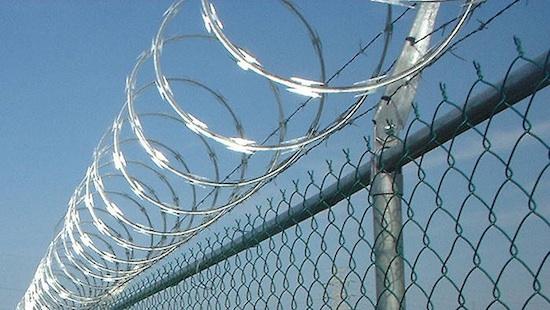 Modelo de concertinas colocadas en la valla de Melilla. Fuente: Change.org