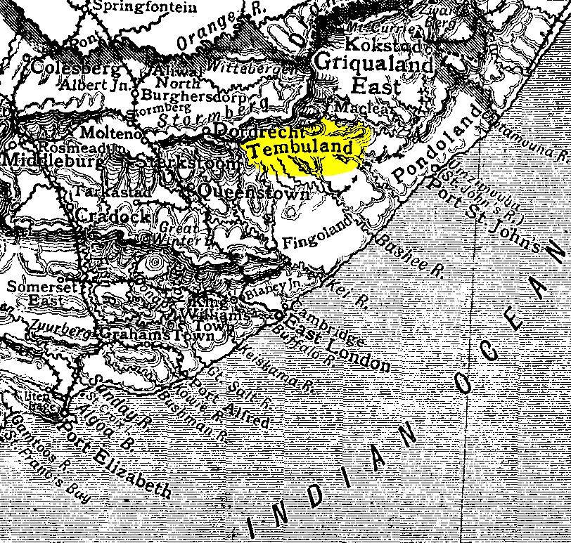 Imagen 7: Antiguo mapa de Thembuland. Fuente: Abu Shawka