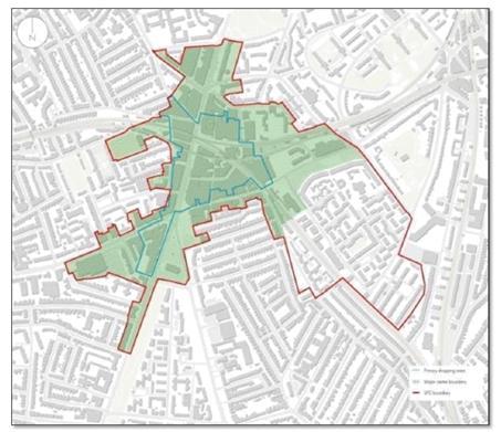 área interención Masterplan Brixton