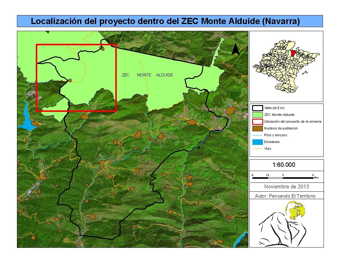 Localización Monte Alduide