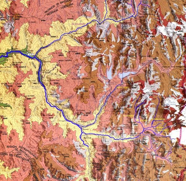 Localización de la Cuenca del Alto Maipo2