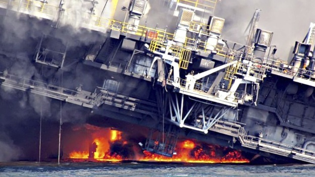 Imagen 5: Plataforma de BP que explotó en el Golfo de México Fuente: http://mexico.cnn.com/