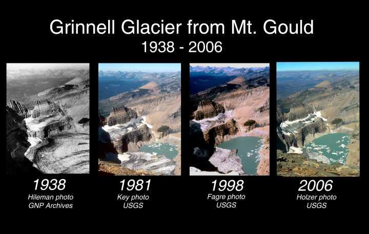 Imagen 2: Deshielo del Glaciar Grinnell del Monte Gould (EEUU) Fuente: http://revueltaverde.files.worpress.com/