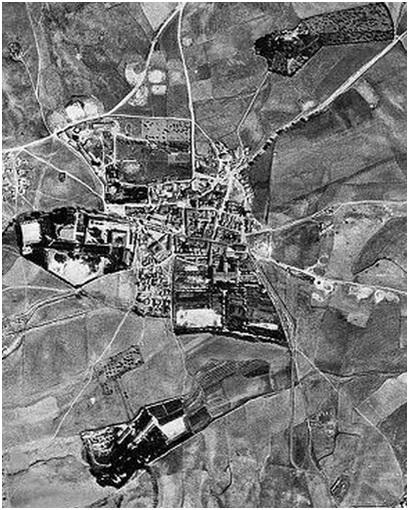 Fotografía aérea de Hortaleza en 1956