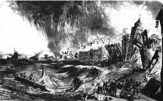 Grabado terremoto Lisboa 1755. Fuente: antonioaretxabala.blogspot.com