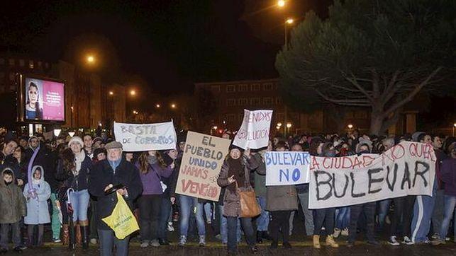 Manifestación en el barrio burgalés de Gamonal en contra del Bulevar