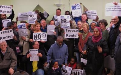 Manifestación a favor de la vivienda social.