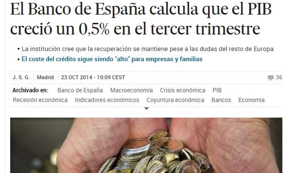 Fuente: El País. 23 octubre 2014