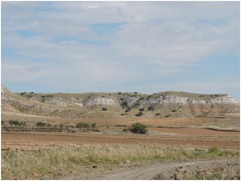 Vertientes de la Mesa de Ocaña en La Guardia (Toledo). Fuente propia.