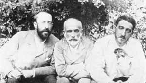 Ricardo Rubio, Giner de los Ríos y Manuel Bartolomé Cossío.